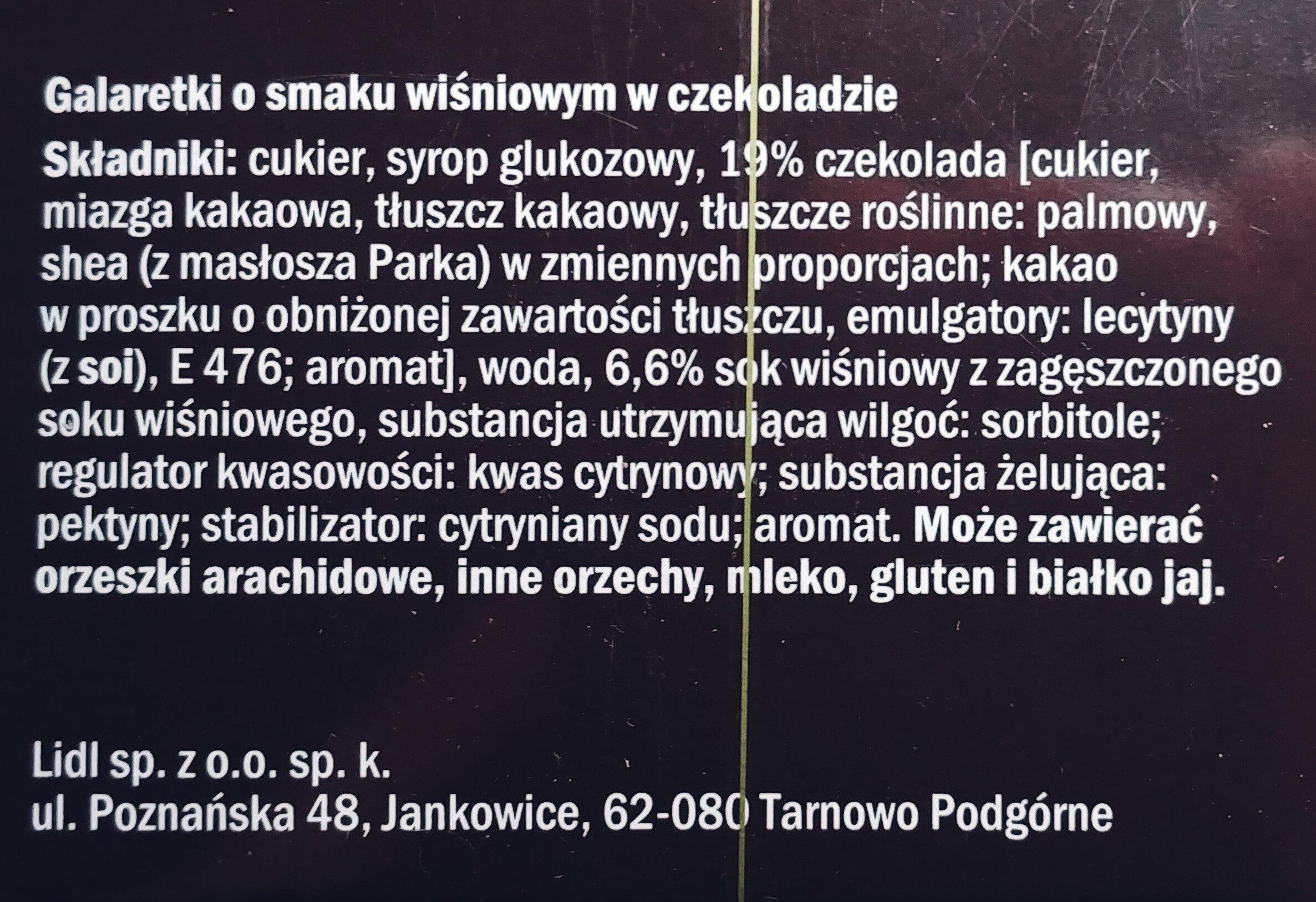 Galaretki o smaku wiśniowym w czekoladzie - Składniki - pl