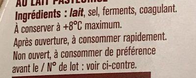 Fromage pour tartiflette - Ingrédients