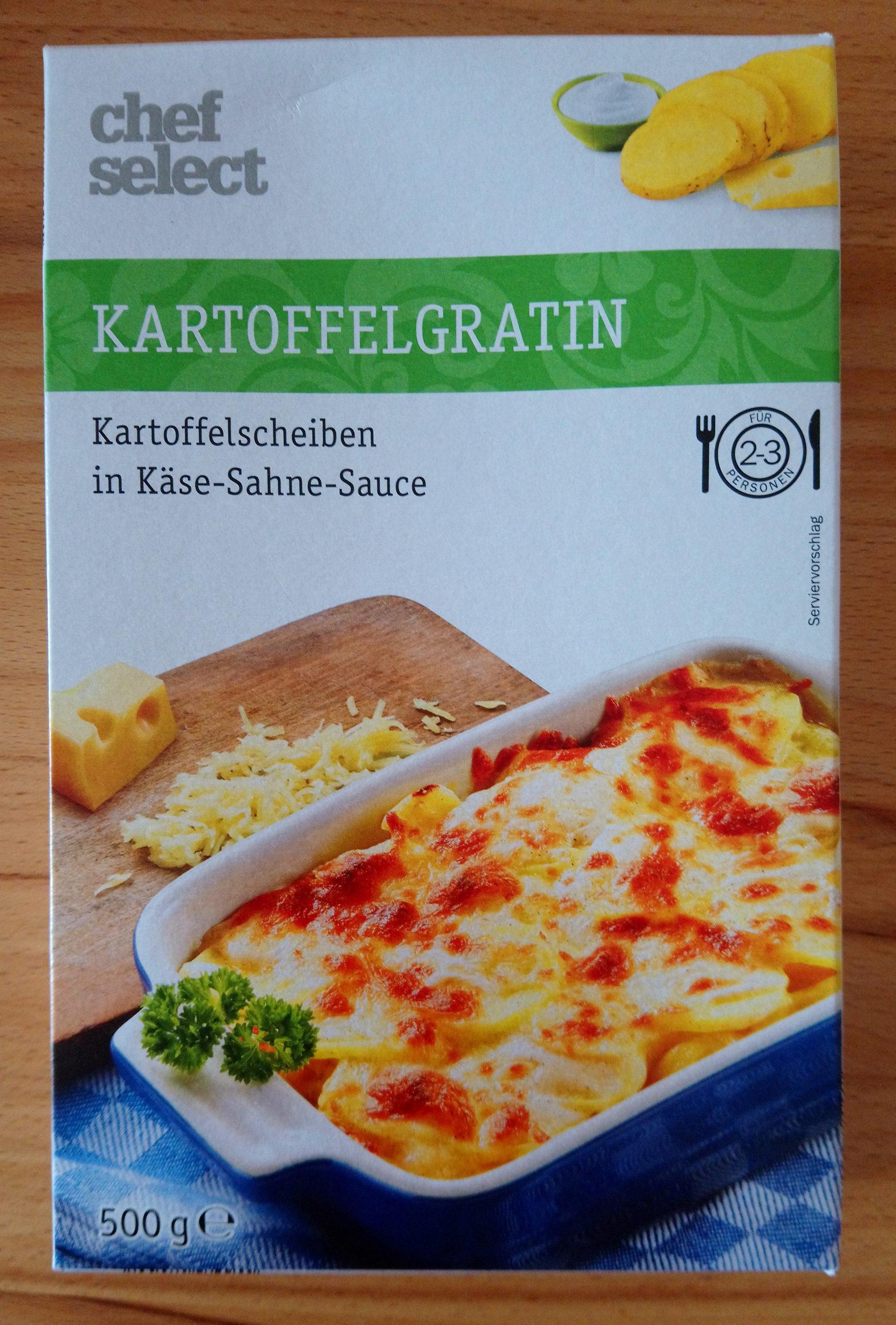 Kartoffel Gratin, Kartoffelscheiben in Käse Sahne ... - Product