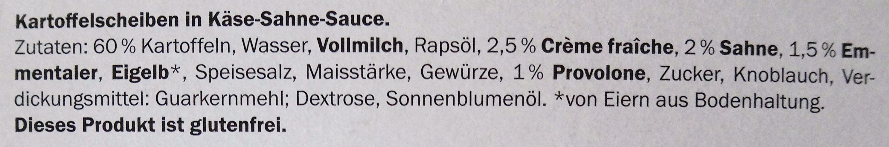 Kartoffel Gratin, Kartoffelscheiben in Käse Sahne ... - Ingredients