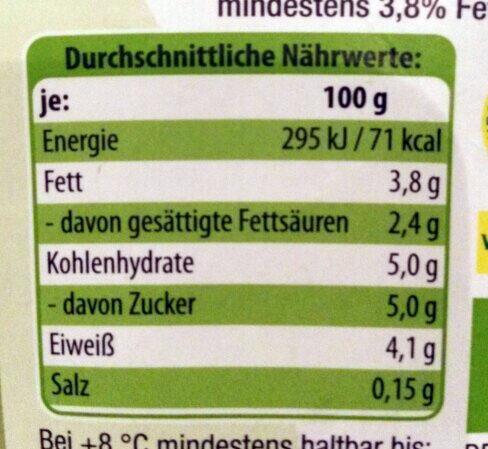 Bio-Joghurt Natur - Nutrition facts