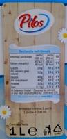 Lapte de consum - Nutrition facts - ro