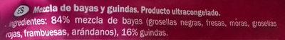 Bayas y guindas - Ingredients
