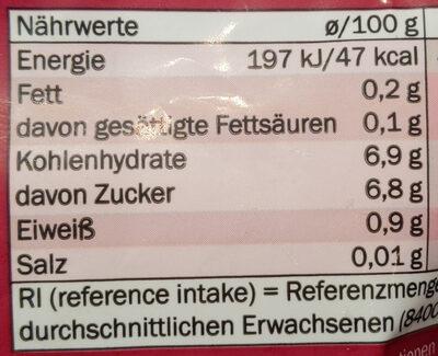 Beerenmix mit Sauerkirschen - Nutrition facts