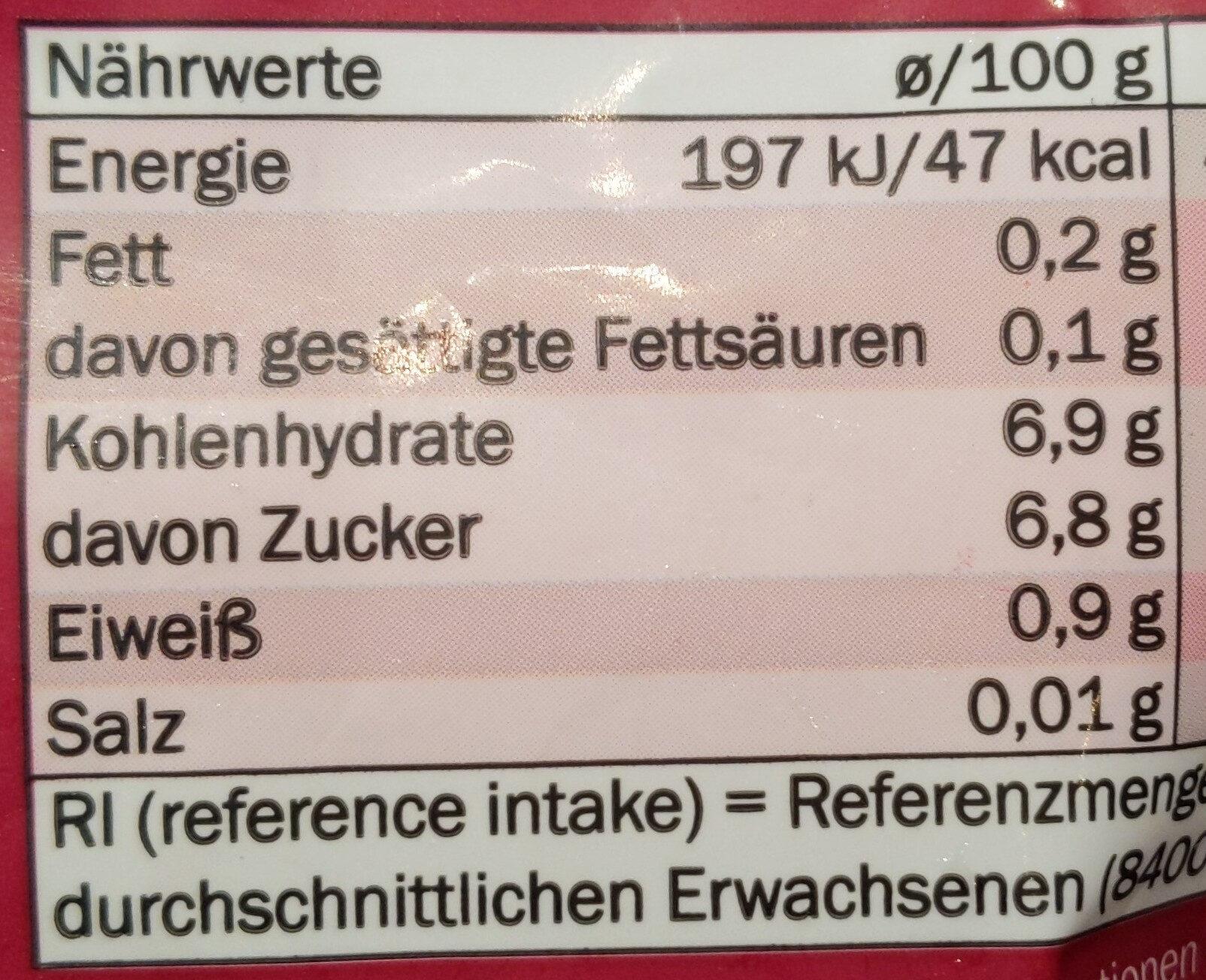 Beerenmix mit Sauerkirschen - Informations nutritionnelles - de