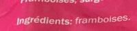 Framboises - Ingredienti - fr