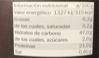 Descafeinado - Informations nutritionnelles - es
