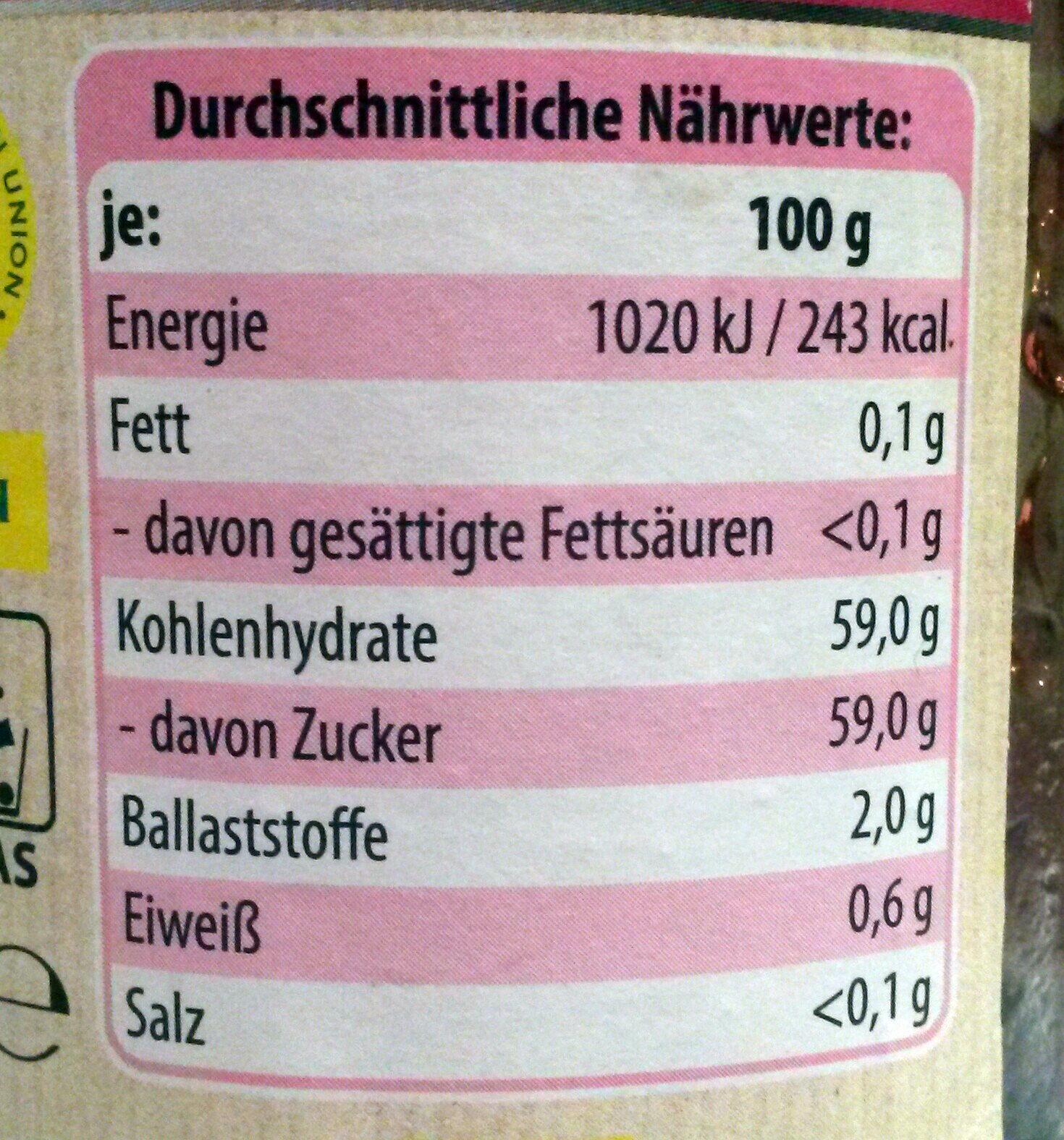 Gelee extra Himbeere - Nutrition facts - de