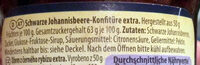 Schwarze Johannisbeere extra - Ingredients - de