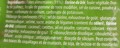 Nouilles Instantanées saveur Légumes - Ingrediënten - fr