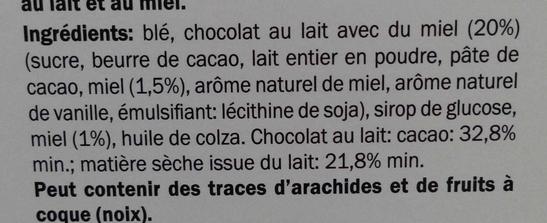 Honey Chocolate Puffs - Ingrediënten - fr