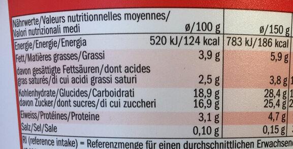 Creme Joghurt mild Erdbeere - Informations nutritionnelles - fr
