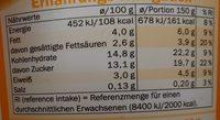 Creme Joghurt mild Pfirsich-Maracuja - Nährwertangaben