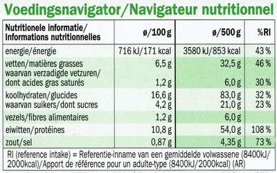 Kip in pindasaus met Nasi Goreng - Nutrition facts - nl