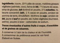 Truffino Chocolat Noir - Ingrédients