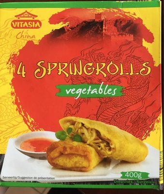 4 rouleaux de printemps légumes - Produit