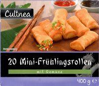 20 Mini-frühlingsrollen Mit Gemüse - Culinea - 400G - Produkt