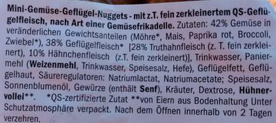 Mini-Gemüse-Nuggets - Inhaltsstoffe