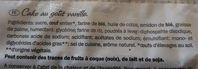 Sandkuchen, Vanille - Ingredients - fr
