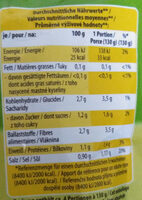 Mildes Weinsauerkraut - Informations nutritionnelles - de