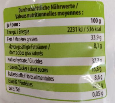 Pan blanco sin corteza - Nutrition facts