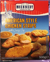 American Style Chicken Strips with Curry Dip - Product