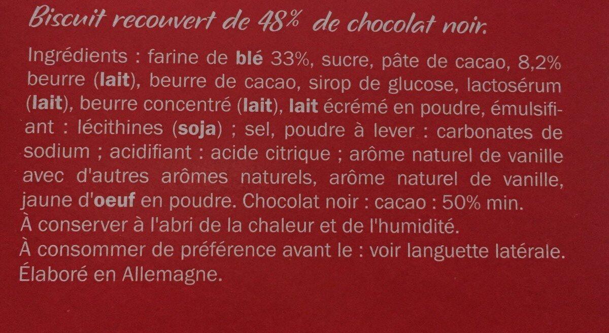 Biscino Chocolat Noir - Ingrédients - fr