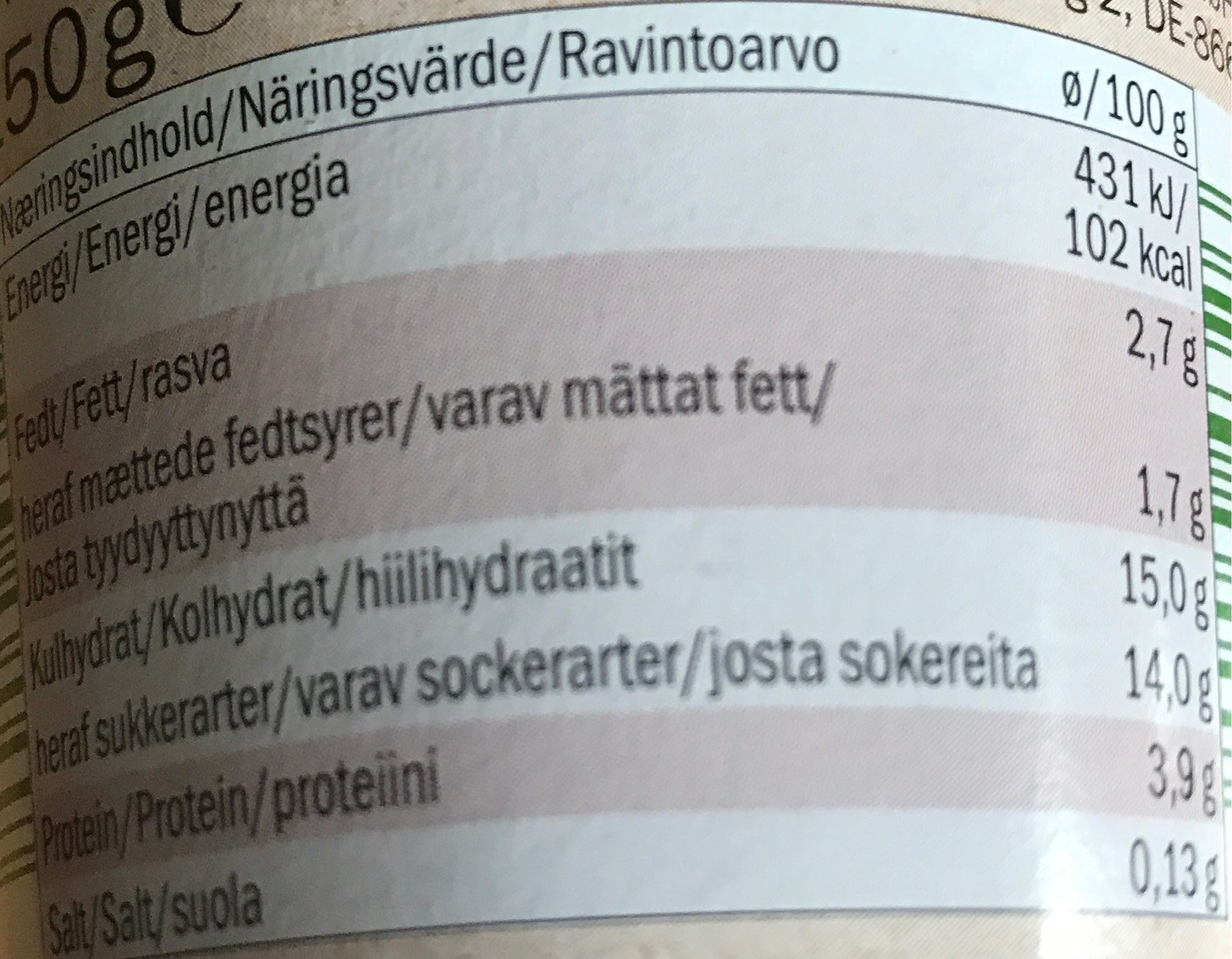 BioFruit yogurt Cherry - Informations nutritionnelles - fr