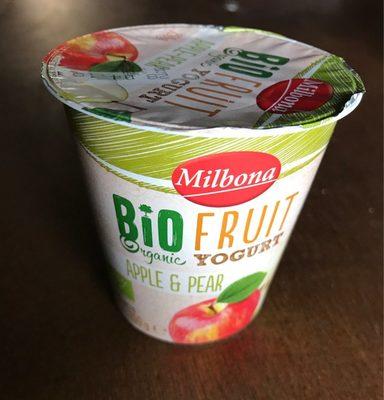 Bio organic yogur sabor manzana y pera - Produit - fr