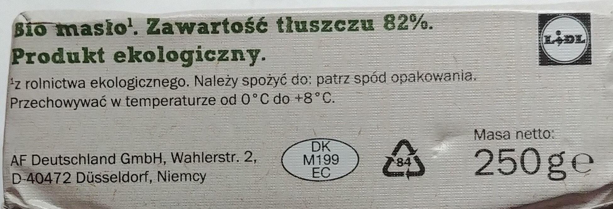 Beurre doux Bio - Składniki - pl