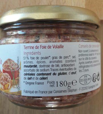 Terrine de foie de volaille - Ingrediënten