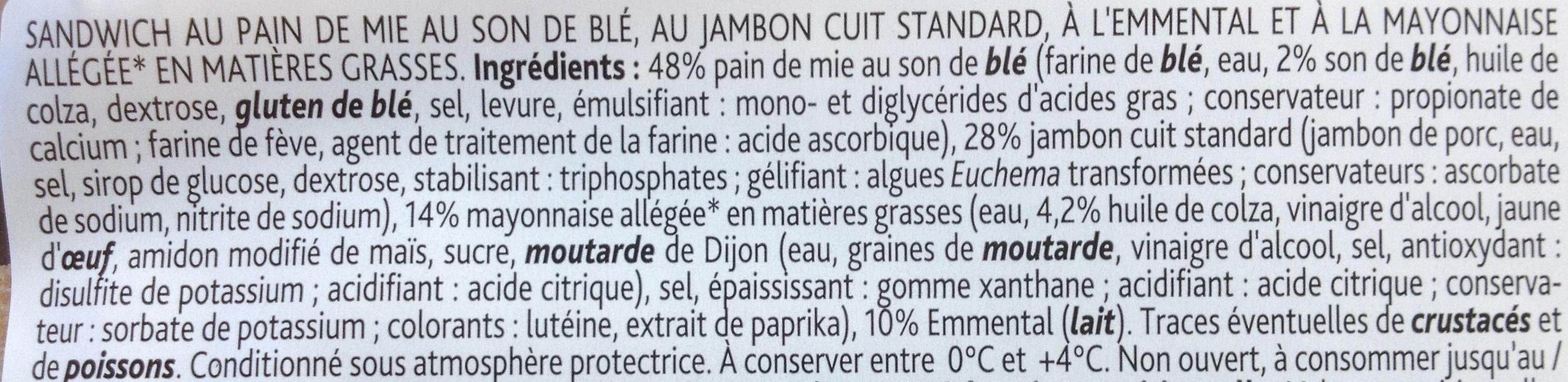 Club jambon emmental mayonnaise - Ingrédients