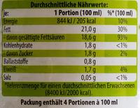 Bio-Kokusnussmilch - Voedingswaarden - de