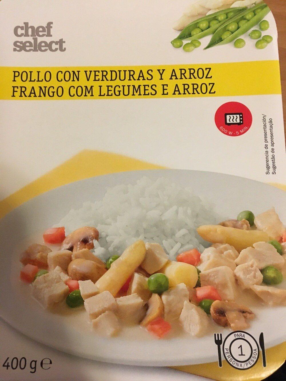 Hühnerfrikassee mit Gemüse und Reis - Producto