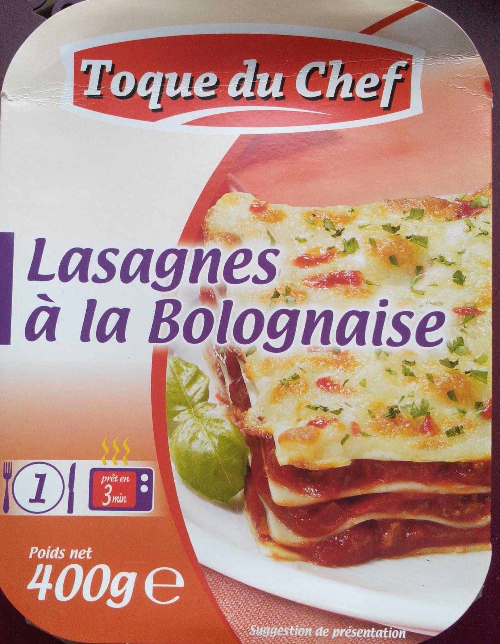 lasagnes la bolognaise toque du chef 400 g. Black Bedroom Furniture Sets. Home Design Ideas