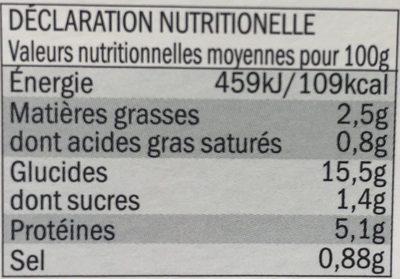 Chili con Carne - Información nutricional