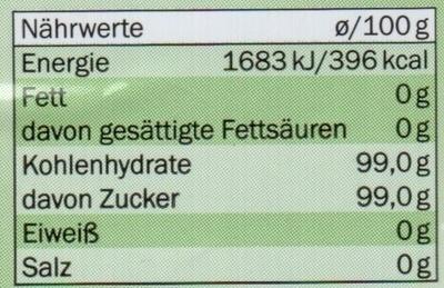 Brauner Rohr-Rohzucker - Nutrition facts - de