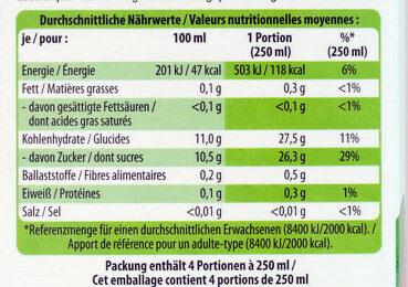 Jus de pomme Bio naturellement - Nutrition facts - fr