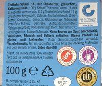 Leichte truthansalami - Ingredients - en
