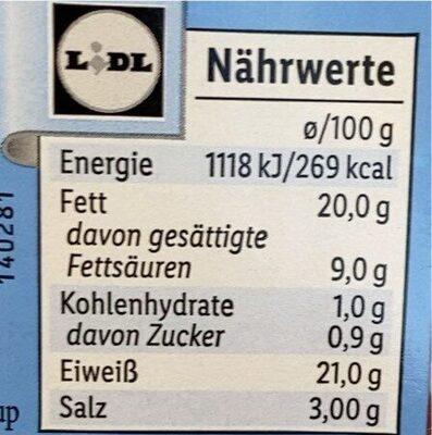 Leichte truthansalami - Nutrition facts - en