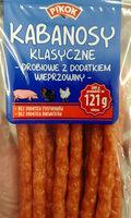 Kabanosy klasyczne drobiowe z dodatkiem wieprzowiny - Produkt - pl