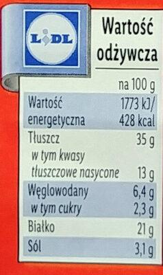 Kabanosy klasyczne drobiowe z dodatkiem wieprzowiny - Wartości odżywcze - pl