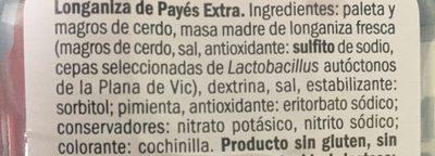 Saucisson de payes - Ingrédients - fr