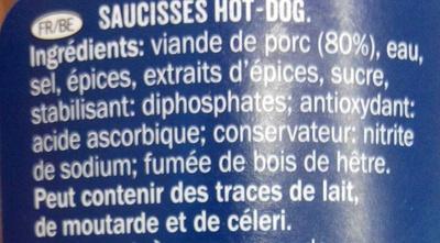 Hot Dog Sausages - Inhaltsstoffe