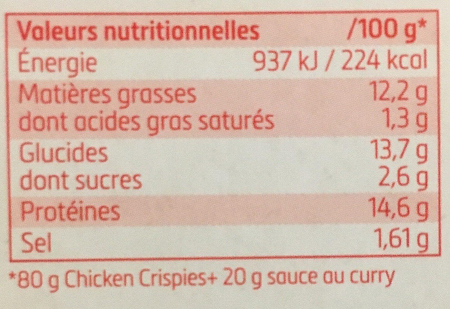 Chicken Crispies - Informations nutritionnelles - fr