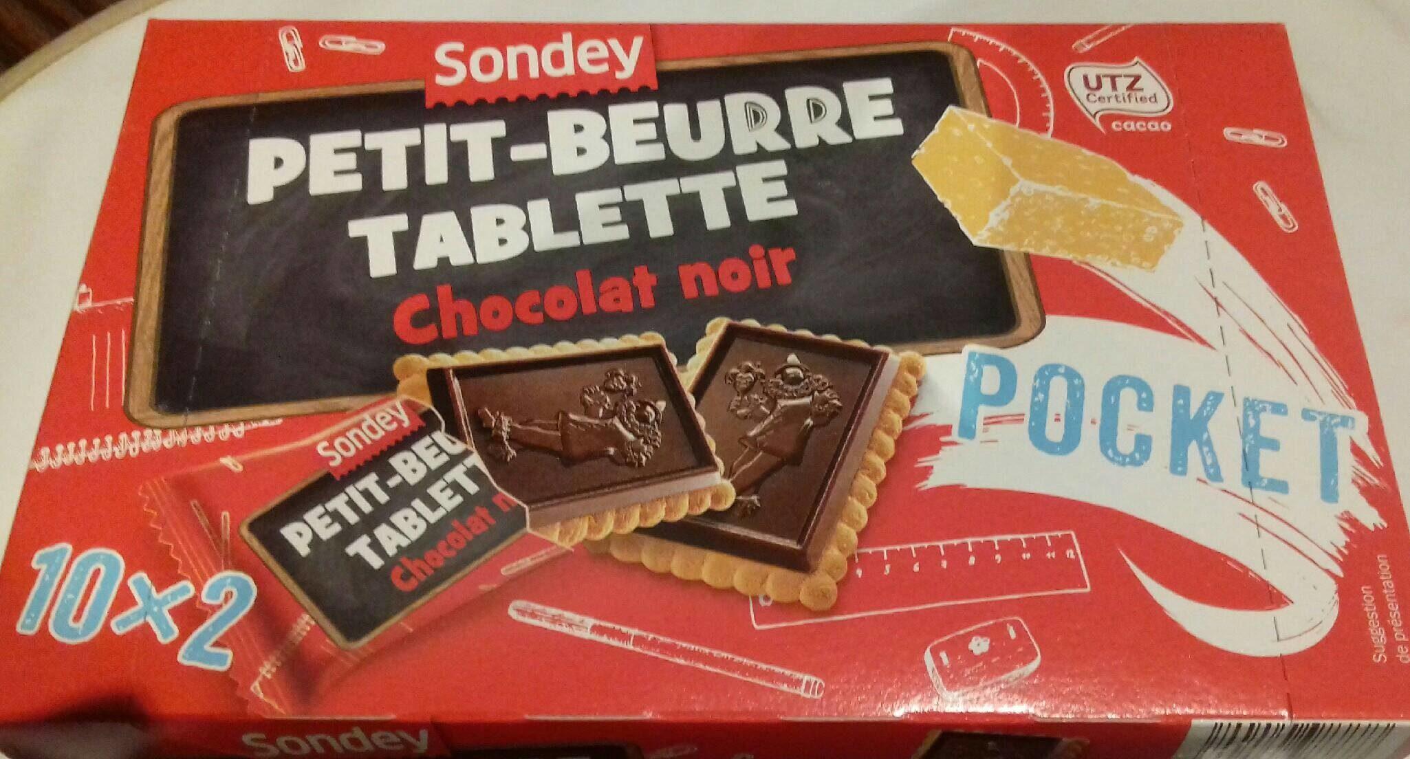 Petit-beurre tablette chocolat noir - Product - fr