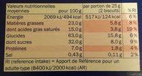 Petit-beurre tablette chocolat noir - Voedingswaarden - fr