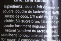 Cappuccino arôme Caramel - Ingrédients - fr