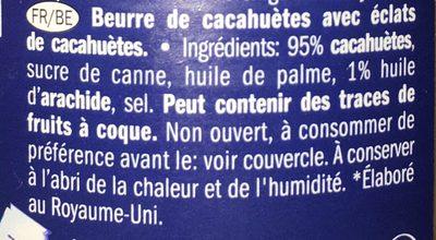 Crunchy peanut butter - Inhaltsstoffe