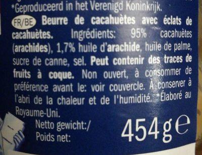 Peanut butter - Ingredients - fr